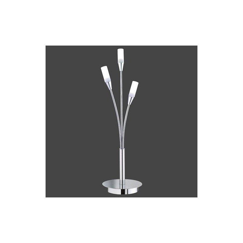 Lampe de table design Umbrella 3L Chrome et Verre mat