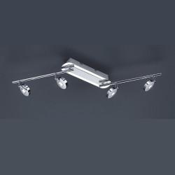 Plafonnier design Flat 4L à bras articulés chrome
