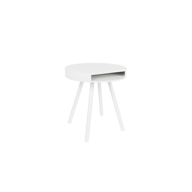 Table d'appoint design blanche Zuiver de face