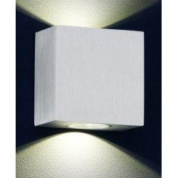 Petite applique carré Cologne aluminium brossé