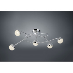 Plafonnier design LED cinq globes- Chris