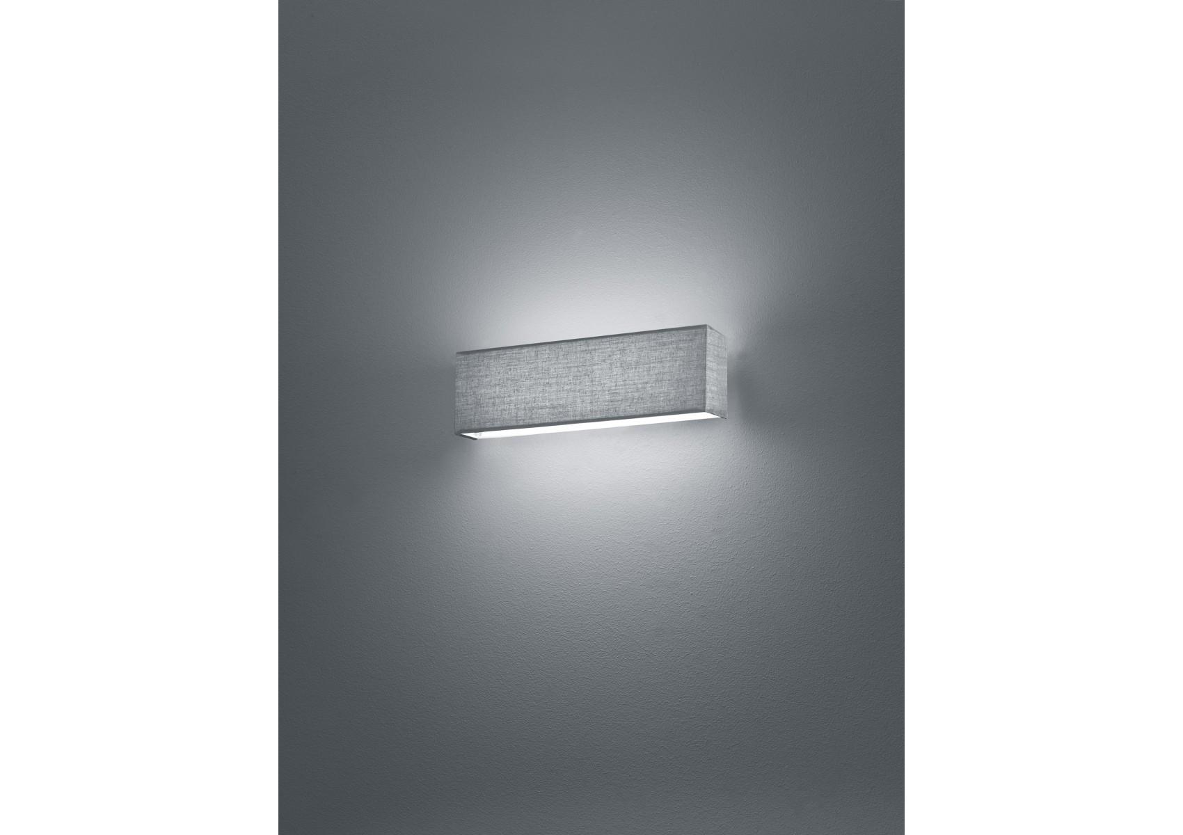 applique design led en tissu de la collection lugano de chez trio. Black Bedroom Furniture Sets. Home Design Ideas