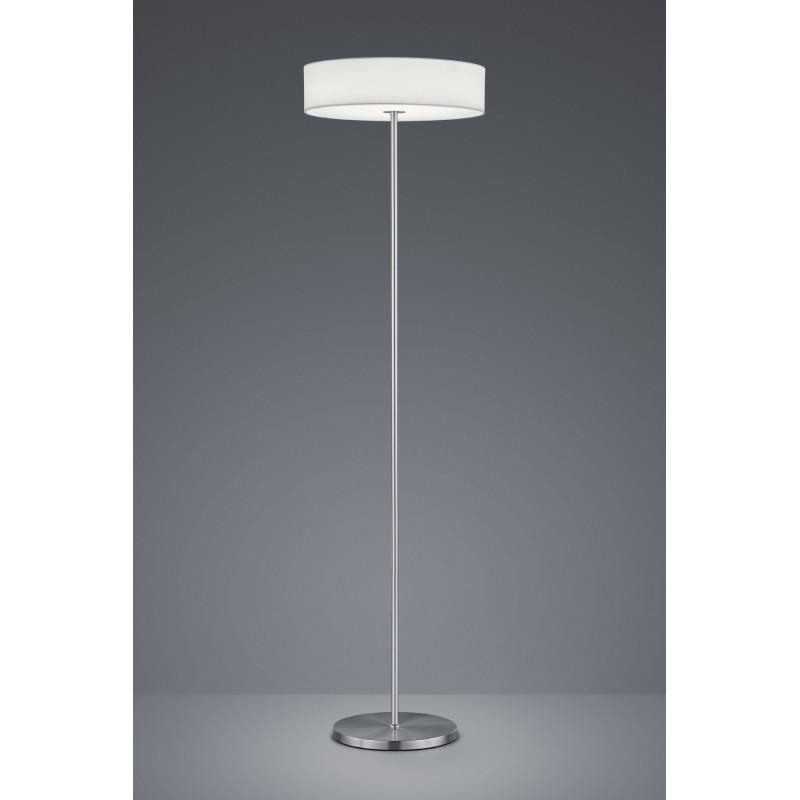 lampadaire design led en tissu de la collection lugano de chez trio. Black Bedroom Furniture Sets. Home Design Ideas