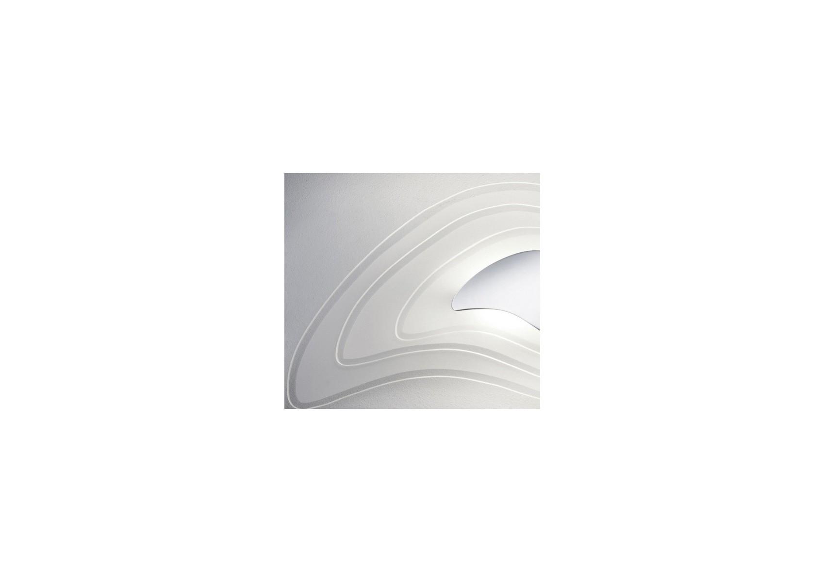 Grande applique design amoebe en chrome et verre boite à design