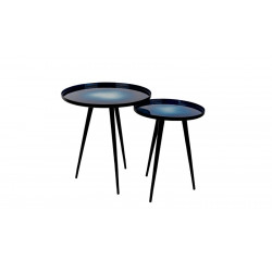 Set de deux tables d'appoint design Flow par Zuiver