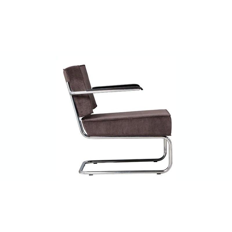 Fauteuil design Ridge Lounge Rib avec accoudoir
