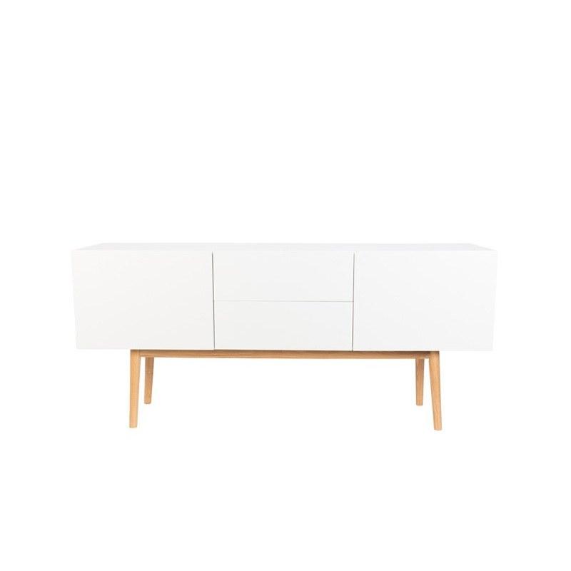 Meuble TV et buffet design High On Wood 2 portes et 2 tiroirs