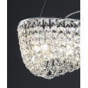 Grande suspension Geneve Cristal et Chrome 12L