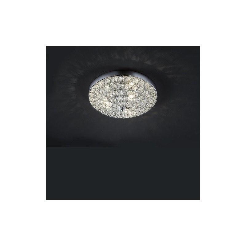 Plafonnier design rond Bruxelles 3L crystal
