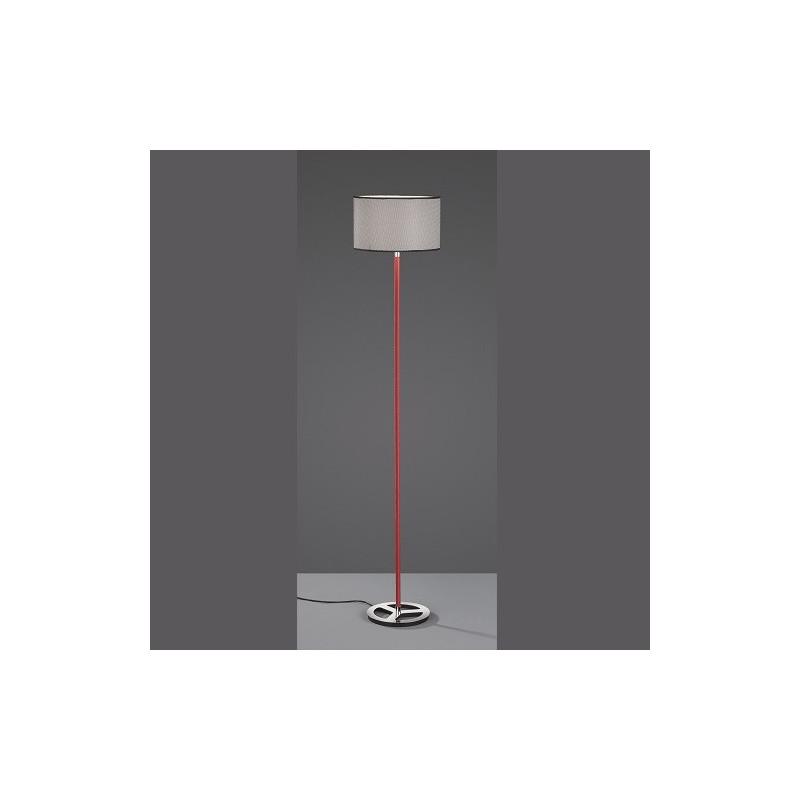 Lampadaire design Stratos rouge et noire