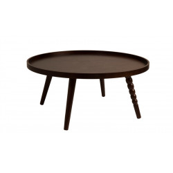 Table d'appoint en noyer design Arabica XL par Dutchbone
