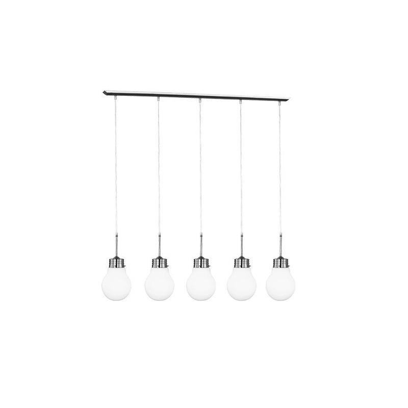 Suspension design Edison cinq Ampoules