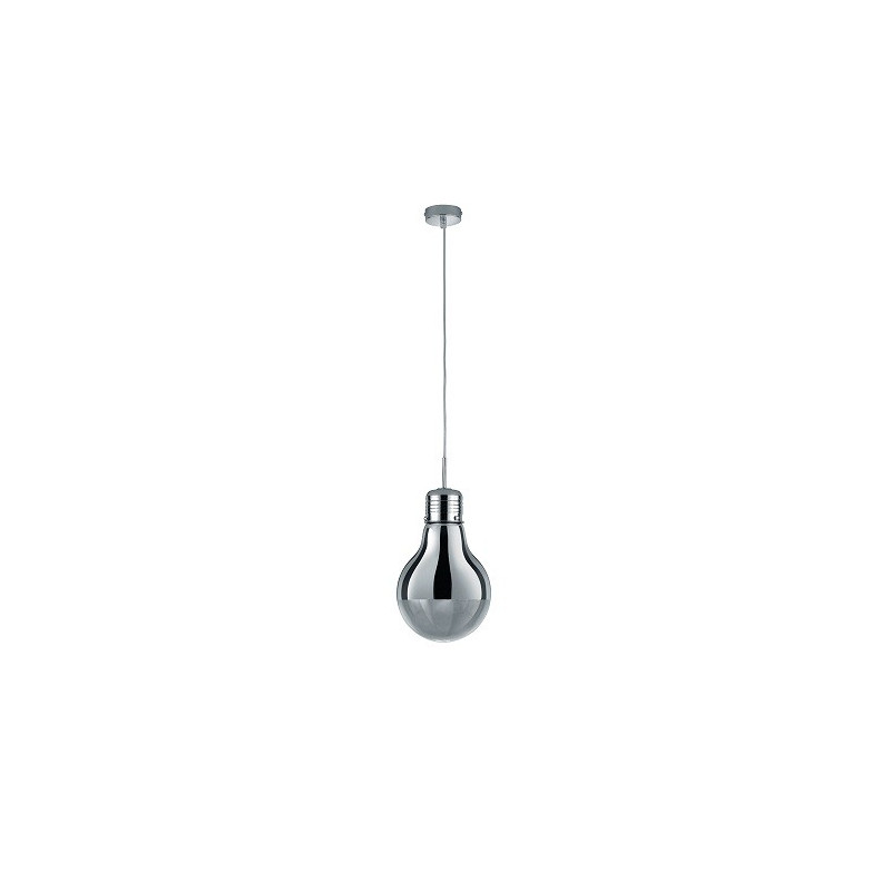 Grande Suspension design Edison Ampoule Chromé