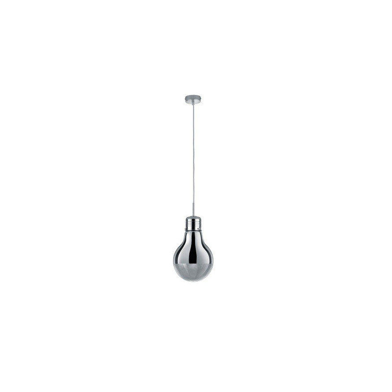 Suspension design Edison Ampoule Chromée