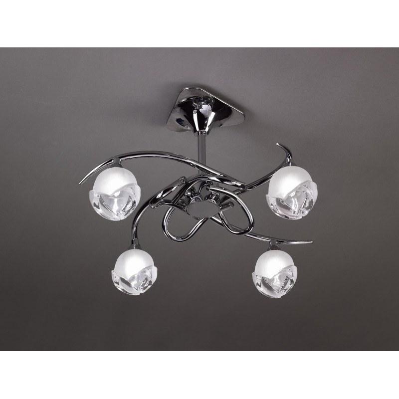 Semi-Plafonnier design BALI CROMO 4L - ampoule G9 osram - mantra