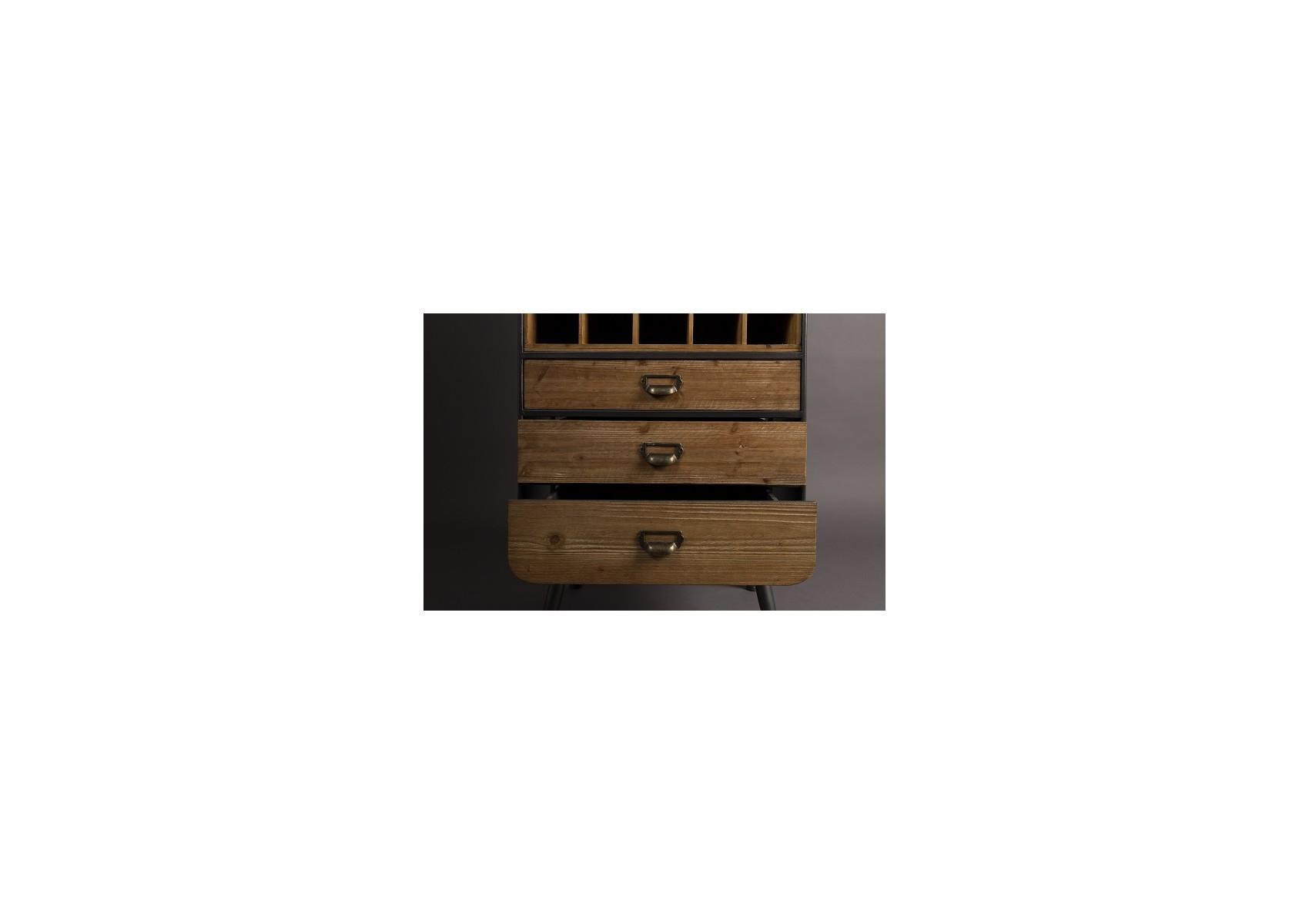 meuble range bouteilles industriel vino de chez dutchbone. Black Bedroom Furniture Sets. Home Design Ideas