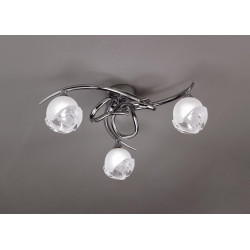 Plafonnier design BALI CROMO 3L - ampoule G9 osram - mantra
