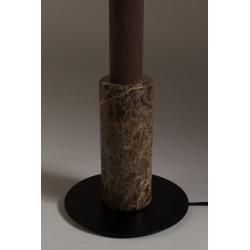 Lampadaire design Menphis en marbre et bois de noyer