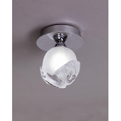 Plafonnier design BALI CROMO 1L - ampoule G9 osram - mantra