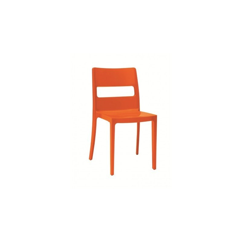 4 chaises design SAI orange scab design