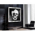 Miroir design tête de mort - skull schuller