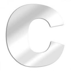 Miroir design lettre C de l'alphabet en acrylique