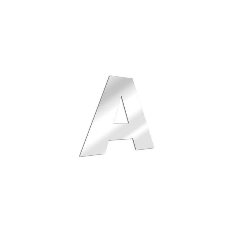 Miroir design lettre A de l'alphabet en acrylique