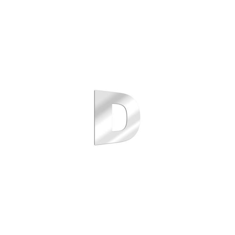 Miroir design lettre D de l'alphabet en acrylique
