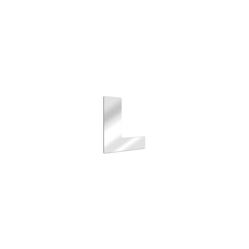 Miroir design lettre L de l'alphabet en acrylique