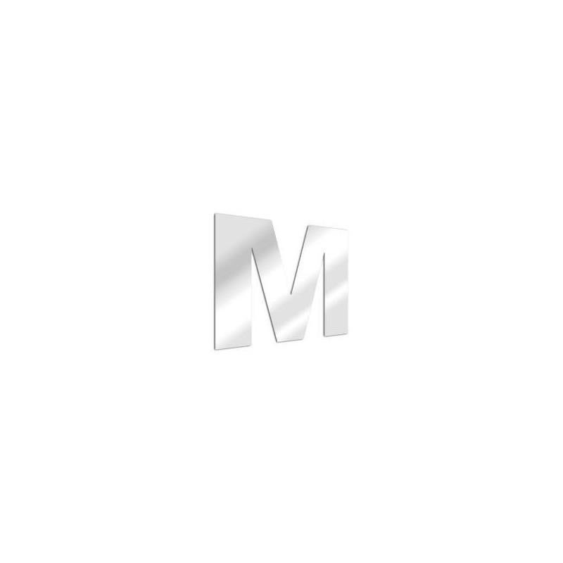Miroir design lettre M de l'alphabet en acrylique