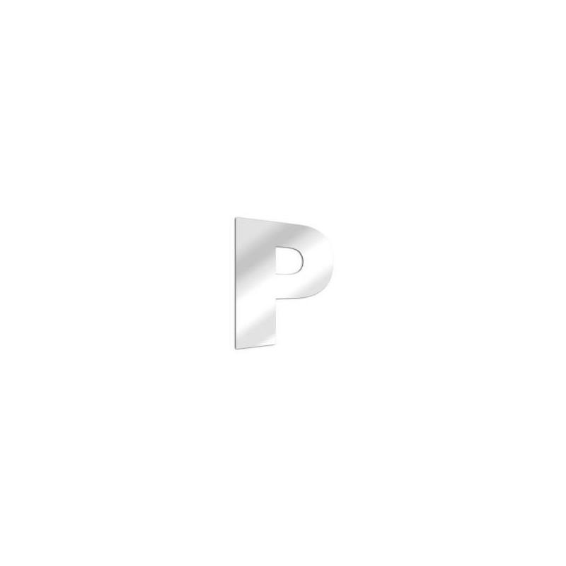 Miroir design lettre P de l'alphabet en acrylique