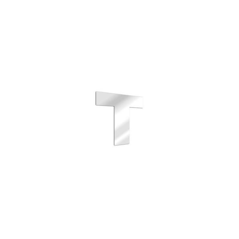 Miroir design lettre T de l'alphabet en acrylique