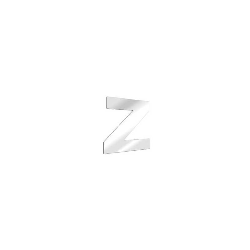 Miroir design lettre Z de l'alphabet en acrylique