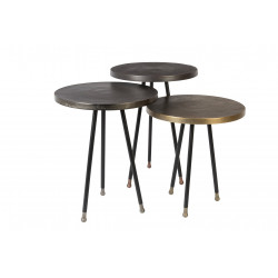 Set de trois tables d'appoint vintage Alim par Dutchbone