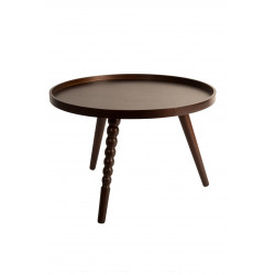 Table d'appoint noyer Arabica L par Dutchbone