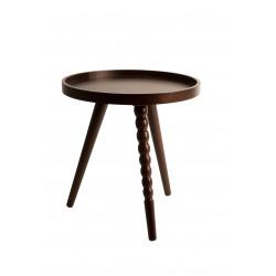 Table d'appoint noyer design Arabica S par Dutchbone