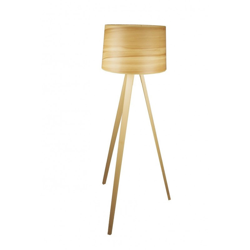 Lampadaire en bois design Essence par Aluminor