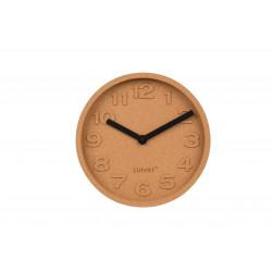 Horloge déco en liège Cork Time par Zuiver