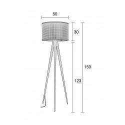 plan Lampe de salon 3 pieds design - Zuiver