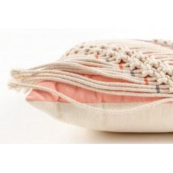 Franges Coussin SAAR ivoire et rose - Zuiver