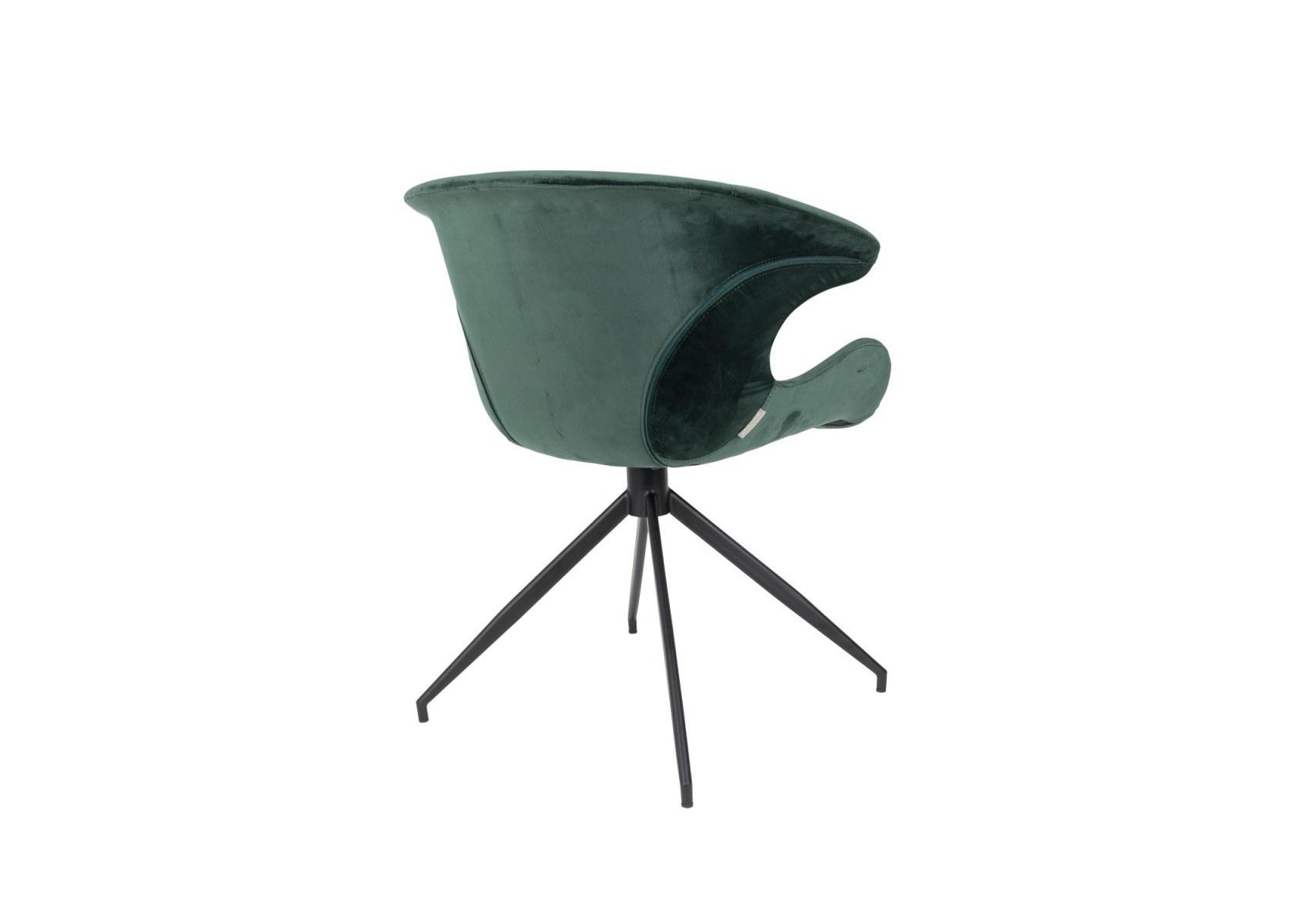 Fauteuil Bureau Mia Velours – Design Revêtement Zuiver De 54Aj3RL