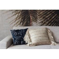 Coussin à franges en laine naturelle - Zuiver