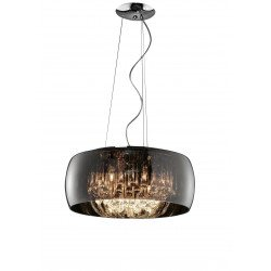 Grande suspension design en verre Vapore