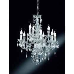 Lustre baroque 9 Lampes
