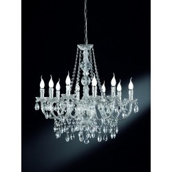 Lustre baroque 10 Lampes