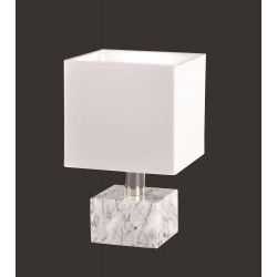 Lampe à poser Daytona en marbre avec abat-jour tissu