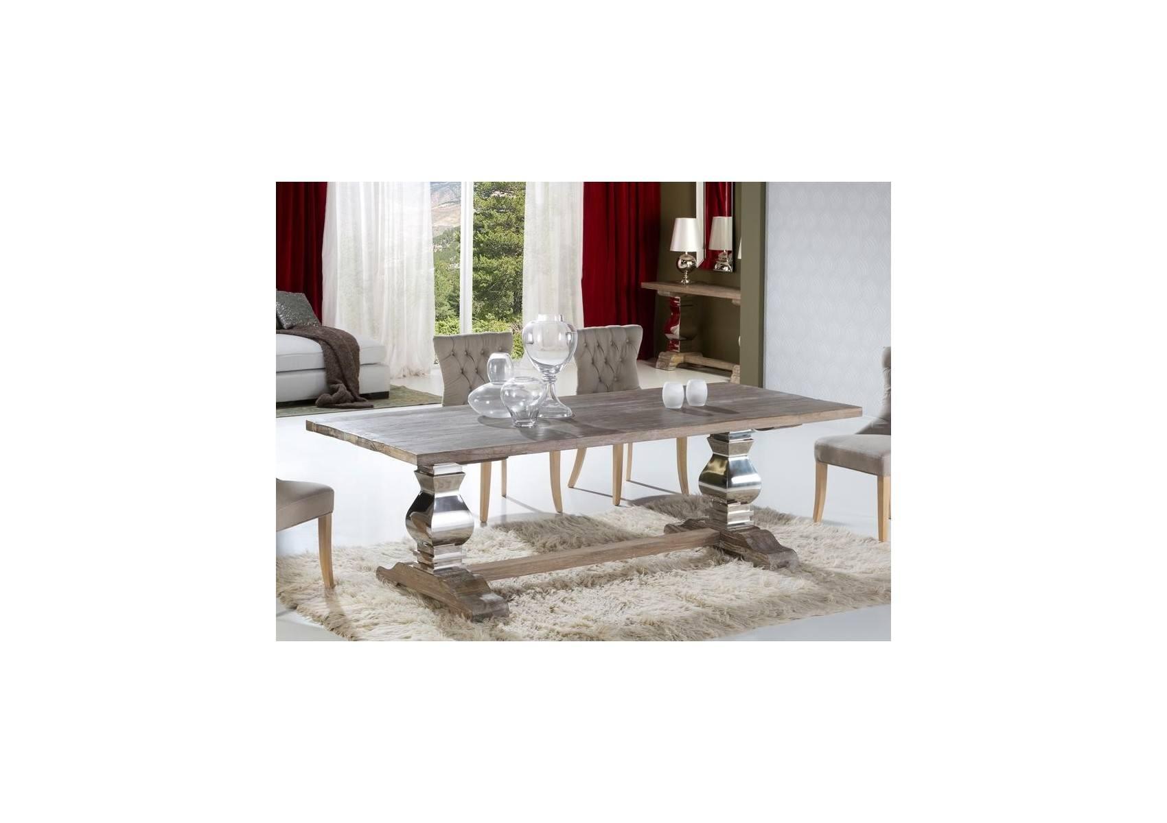 Table Design De Salle A Manger En Bois Ancien Massif Antica 240