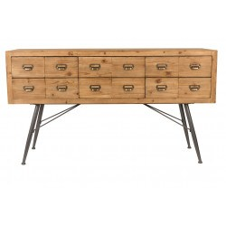 Buffet en bois Six style indus - Dutchbone