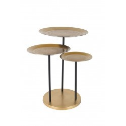 Table d'appoint en fer avec motif - Zatar - Dutchbone