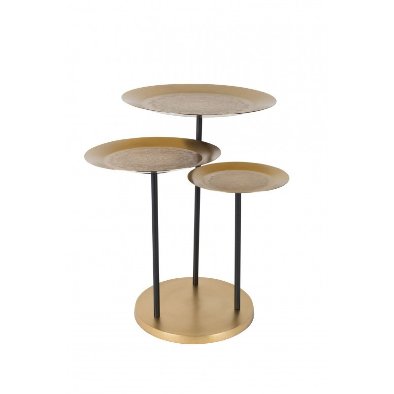Table d'appoint en fer avec motif - Zatar - Dutchbone